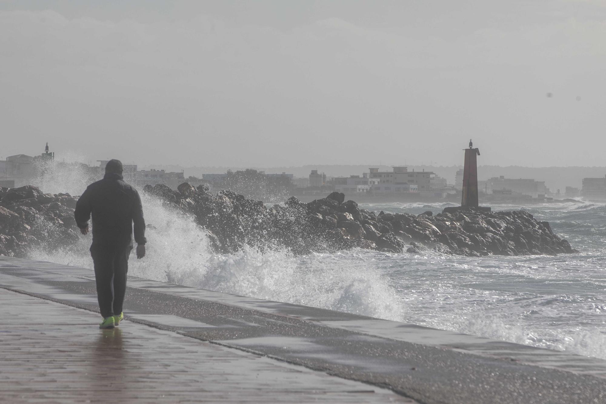 El tiempo en Mallorca: Las imágenes que deja el temporal en la isla