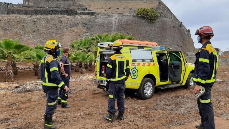 Un operario resulta herido al caer desde ocho metros de altura en Arucas