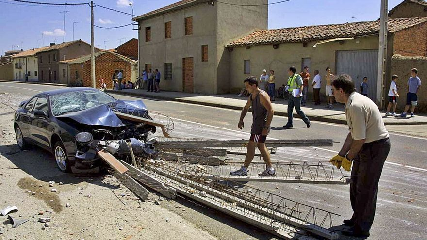Seis muertos en Castilla y León en accidentes en travesías
