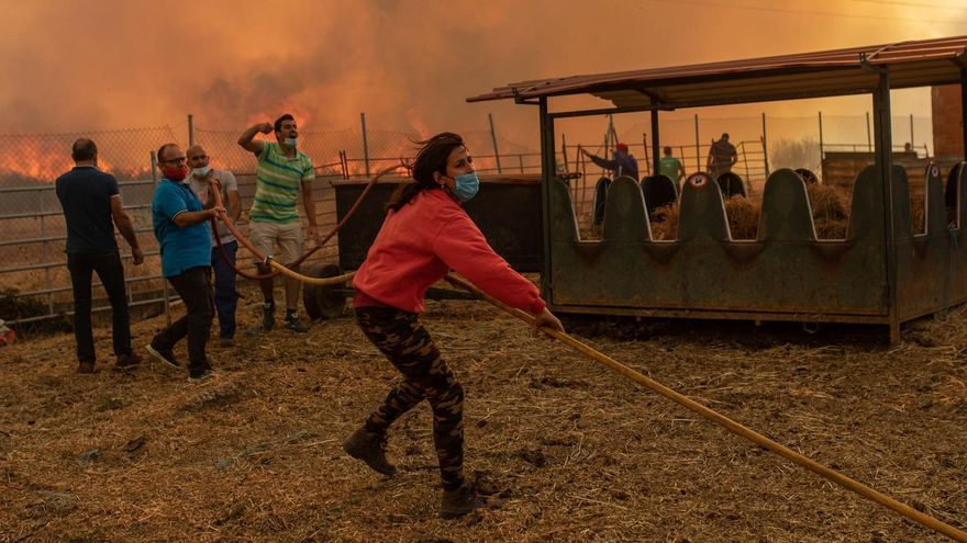 El incendio en Lober de Aliste, en diez imágenes