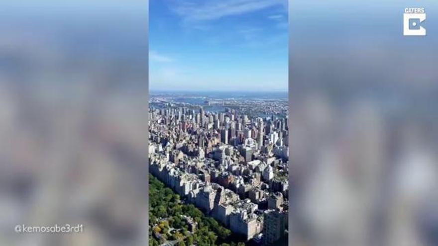Així són les vistes d'un obrer de la construcció d'un gratacels de la ciutat de Nova York