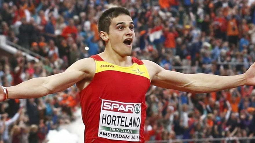 Bruno Hortelano bate el récord de España de 150 metros
