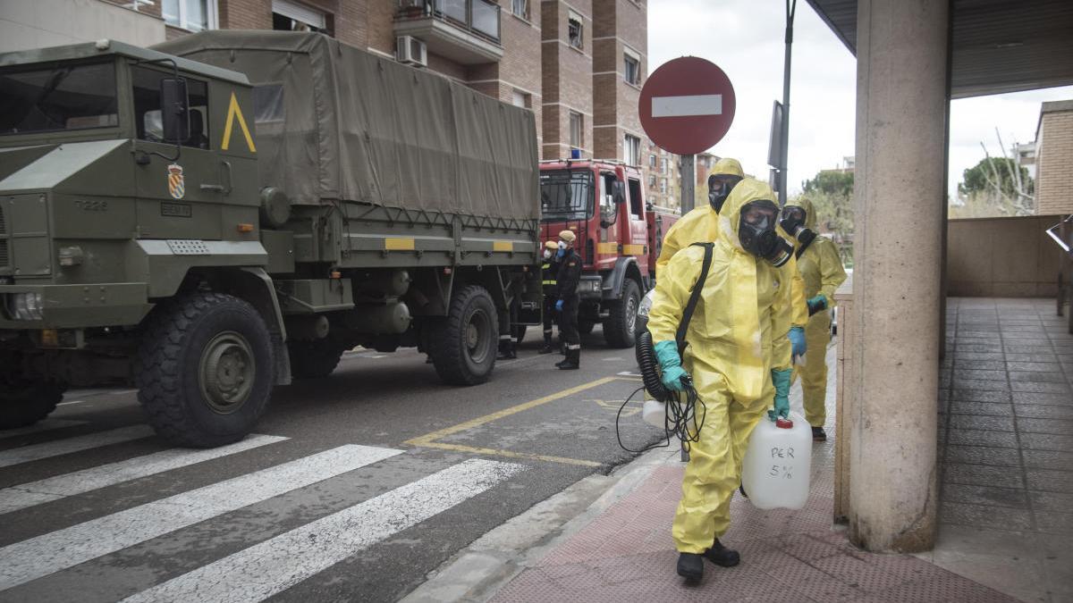Unitat de l'exèrcit entrant dimarts a la residència de Sant Joan, una de les més afectades, per fer-hi tasques de desinfecció