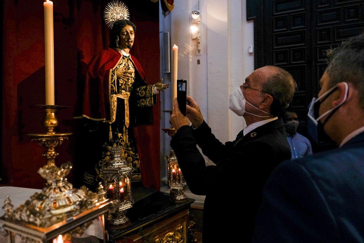 Domingo de Resurrección en la iglesia de San Julián, sede de la Agrupación de Cofradías