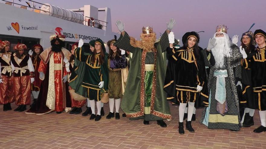 El covid no impide que los Reyes Magos visiten Formentera