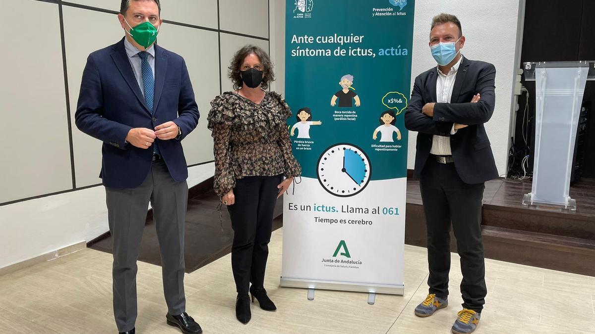 Acto de presentación de la campaña para informar sobre los síntomas de los ictus.