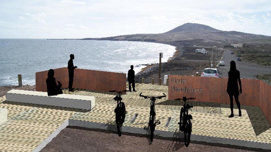La playa de Vargas dispondrá de un nuevo mirador panorámico
