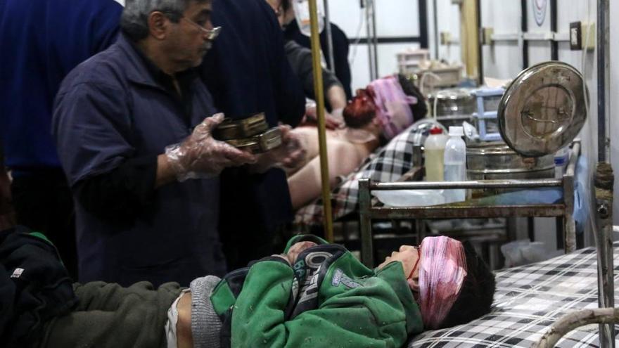 Las imágenes del ataque químico en Siria