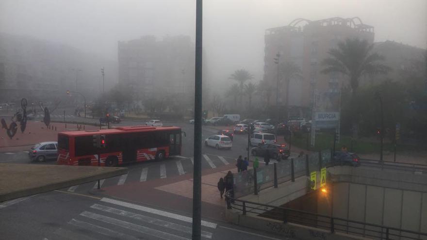 La niebla de hoy, preludio de un fin de semana de frío, lluvia y viento en la Región