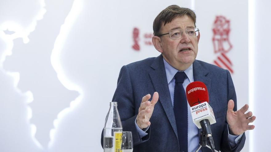 """Puig insiste en que el adelanto electoral """"no entra"""" en sus planes"""