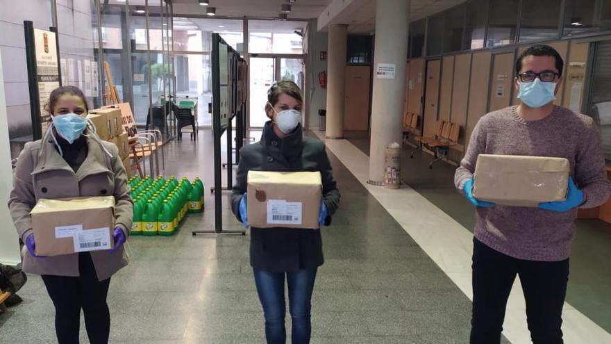 Un pueblo de Alicante dona a Bonrepòs material para hacer mascarillas