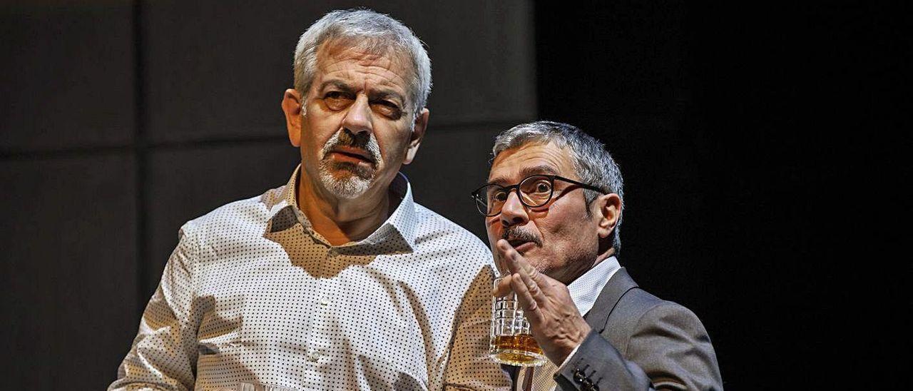Carlos Sobera y Ángel Pardo, los dos protagonistas masculinos de 'Asesinos todos'.
