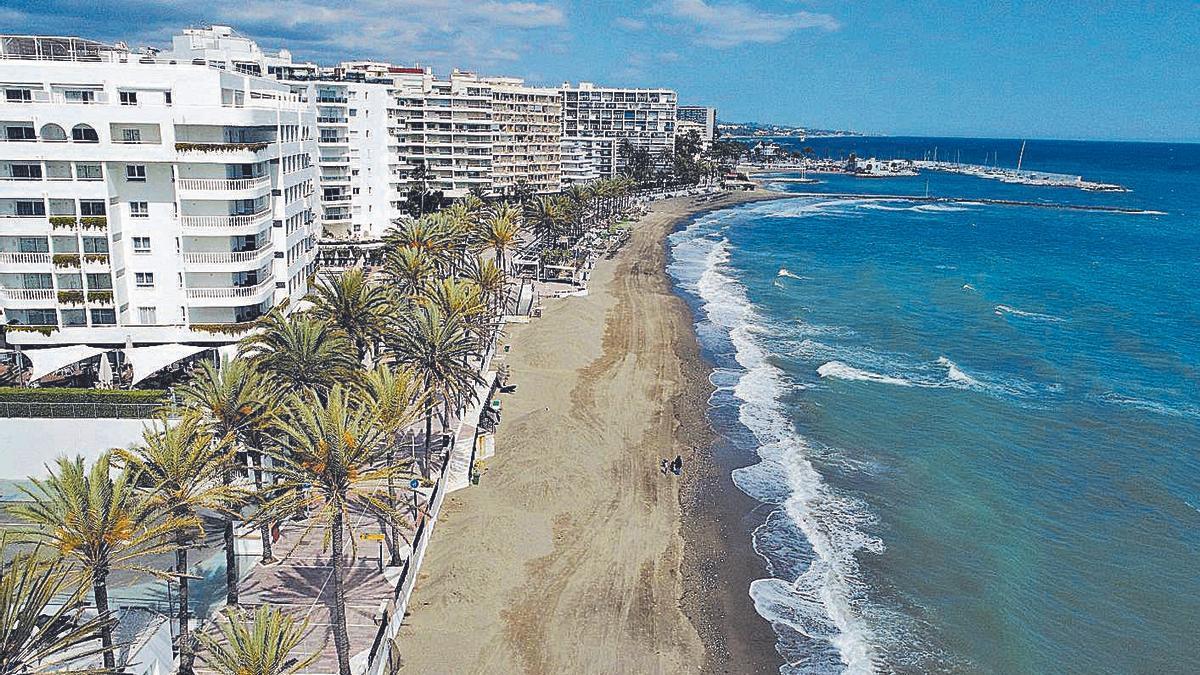 Tramo del litoral del centro urbano de Marbella que se verá beneficiado con las actuaciones