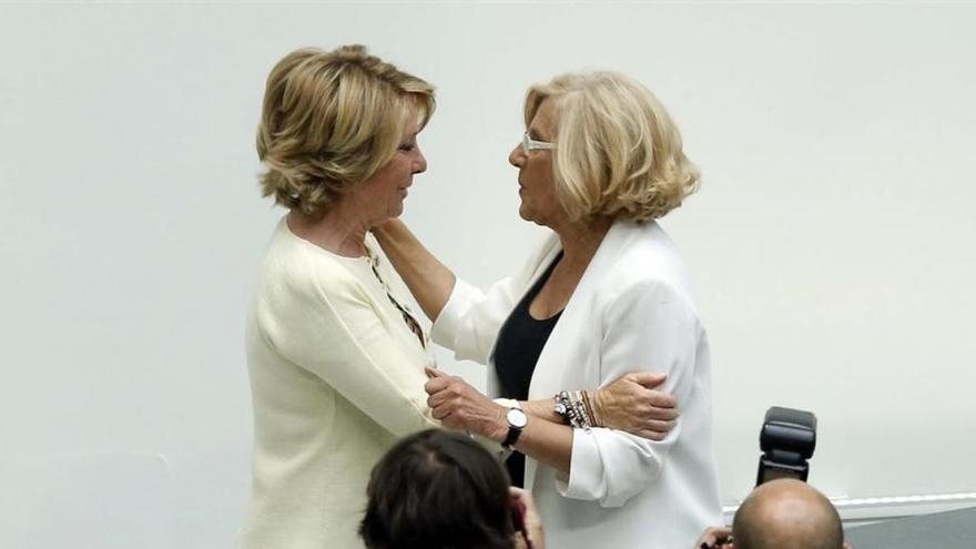 Iglesias y Rufián señalan a Aguirre como una pieza de la maquinaria corrupta del PP