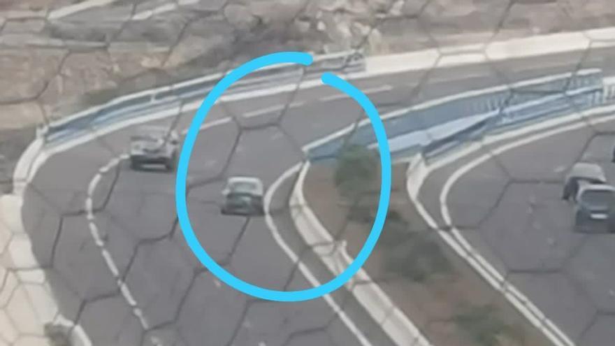 Otro conductor kamikaze desata el pánico en las carreteras canarias