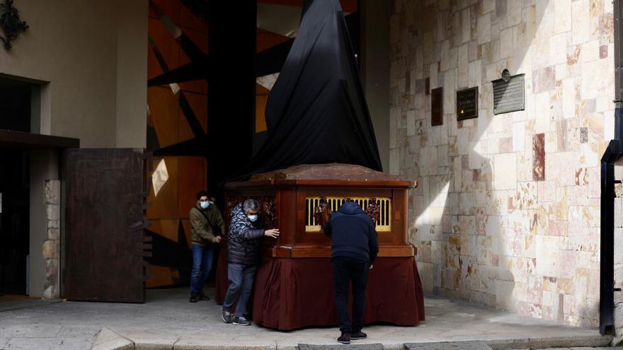 Traslado del paso Redención desde el Museo de Semana Santa de Zamora