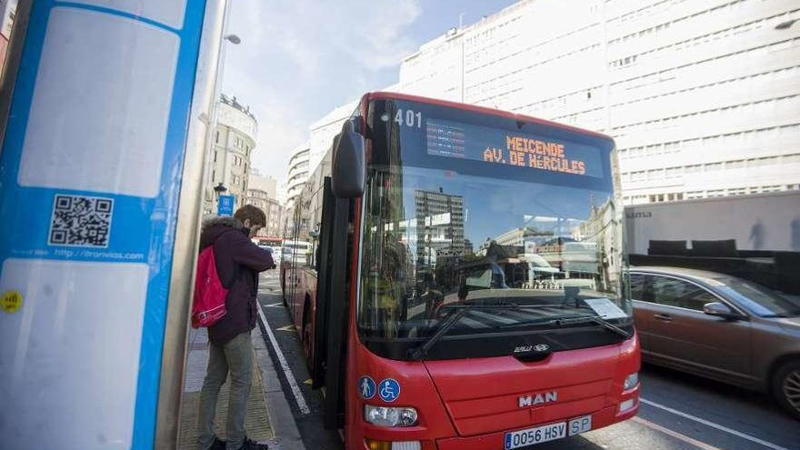 Una ordenanza del bus en pesetas