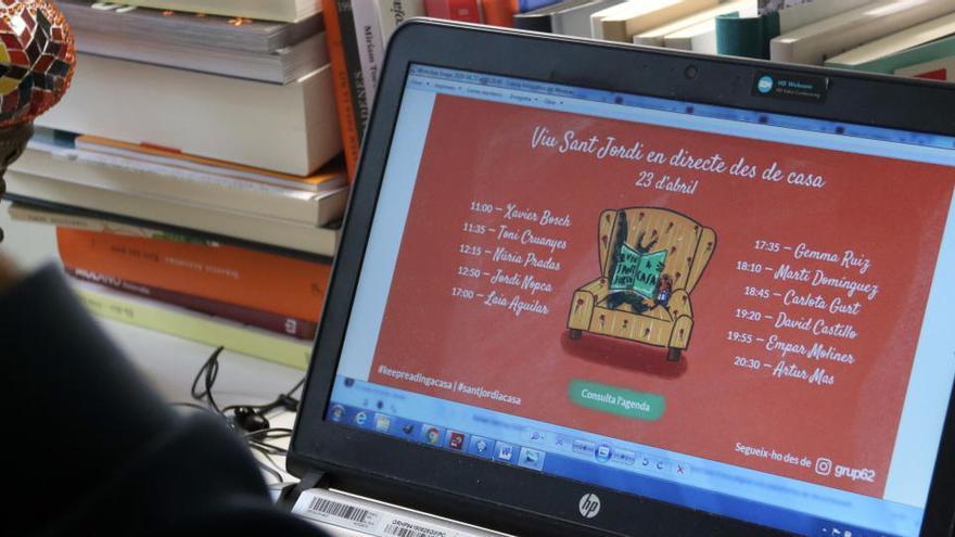 Les trobades amb escriptors omplen les xarxes socials per Sant Jordi