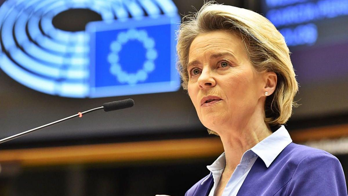La presidenta de la Comissió Europea, Ursula Von der Leyen, en una compareixença recent.