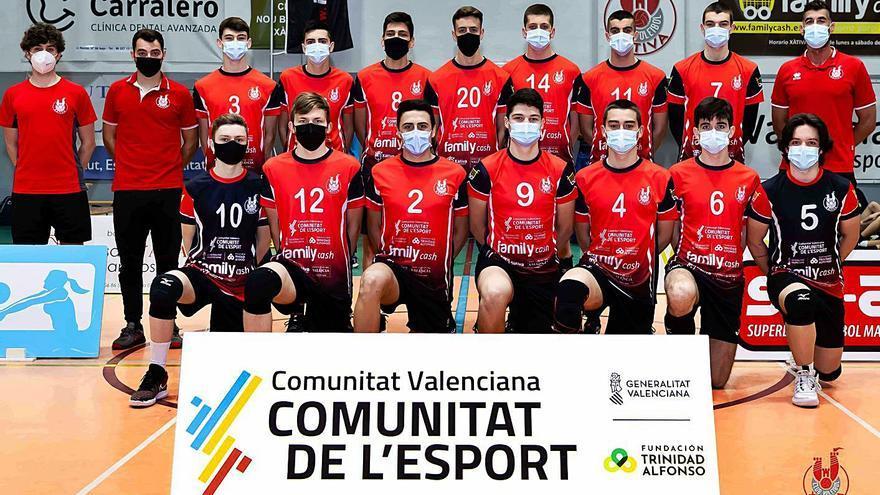 El Juvenil del CV Xàtiva queda entre los diez mejores de España