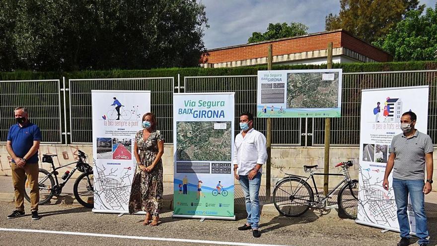 Cuatro pueblos de la cuenca del Girona se conectan con una vía verde peatonal y ciclista