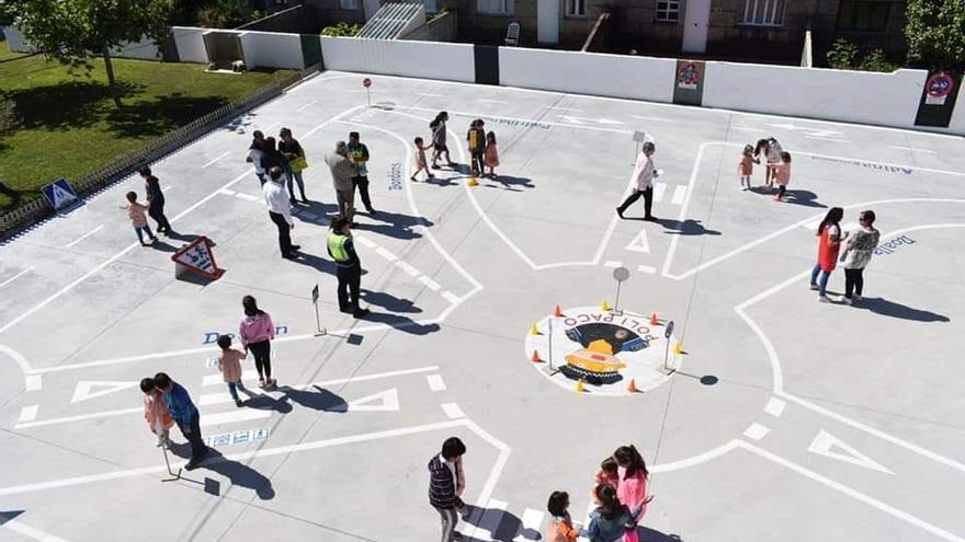 El circuito vial del colegio A Florida, finalista de los premios Ponle Freno