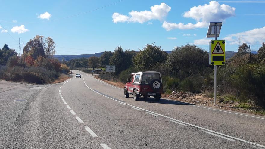 Zamora estrena su primer cruce inteligente en la carretera del Lago de Sanabria