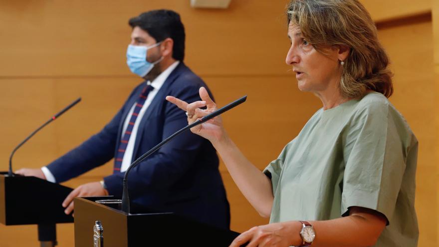 La ministra Ribera regresa a Murcia para explicar su hoja de ruta en el Mar Menor