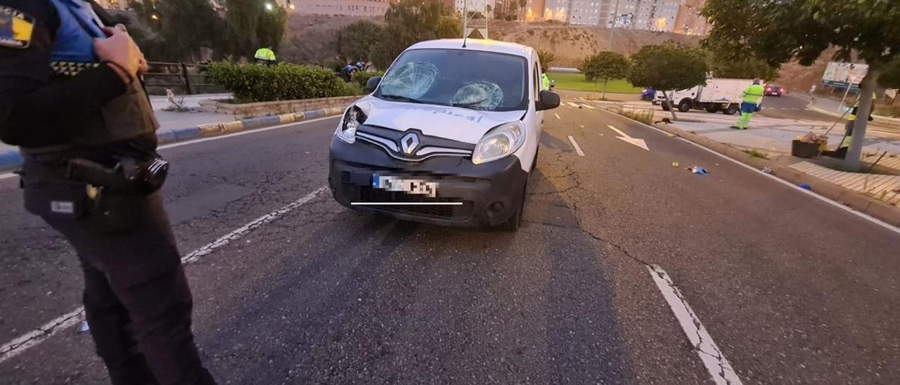 Furgoneta que atropelló a los peatones en Las Ramblas.