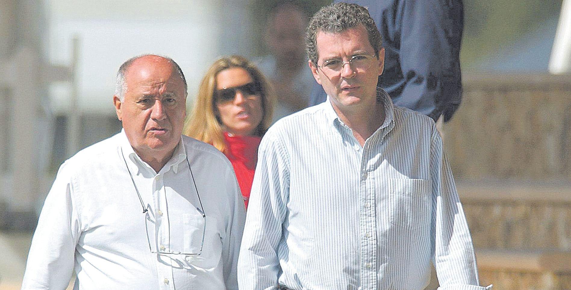 Amancio Ortega, que quiso comprar el Bendinat, con su primer ejecutivo Pablo Isla, que tiene casa en el Levante mallorquín.