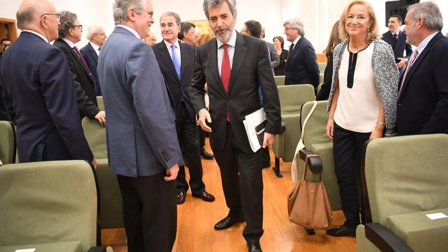 Lesmes inaugura un encuentro de jueces en A Coruña