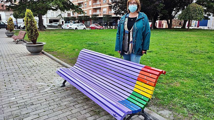 Nuevo símbolo en Gozón a favor de la igualdad y contra la discriminación sexual