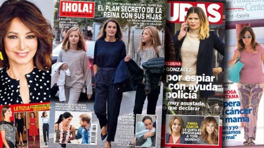 """La Reina y sus hijas, """"pilladas"""" camino del Teatro Real"""