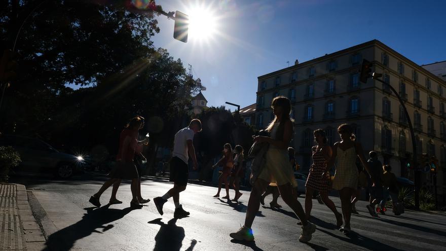 Aviso amarillo por calor este sábado en Málaga