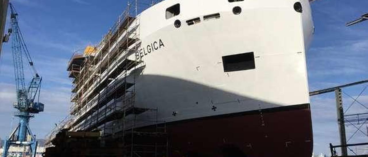 """El oceanográfico """"Belgica"""", estos días en Freire. // Belspo"""