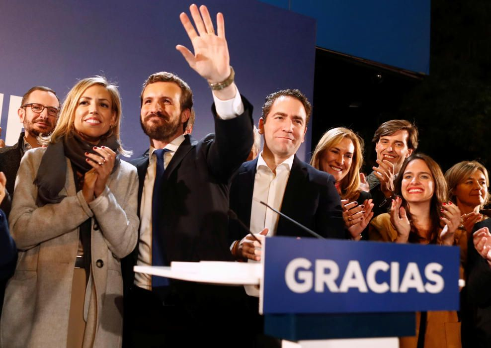 Spain's People's Party candidate Pablo Casado ...