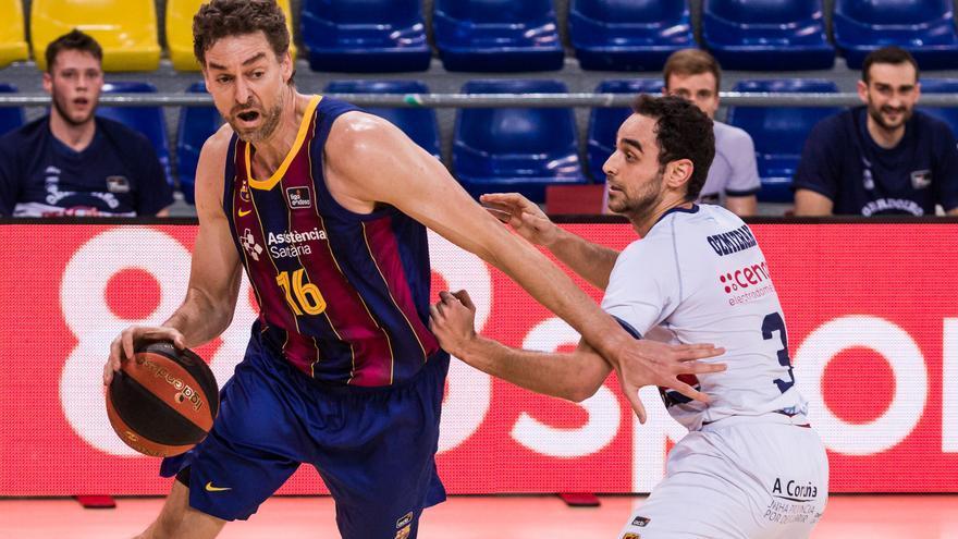 El Barcelona sofoca la reacción del Obradoiro en el último cuarto