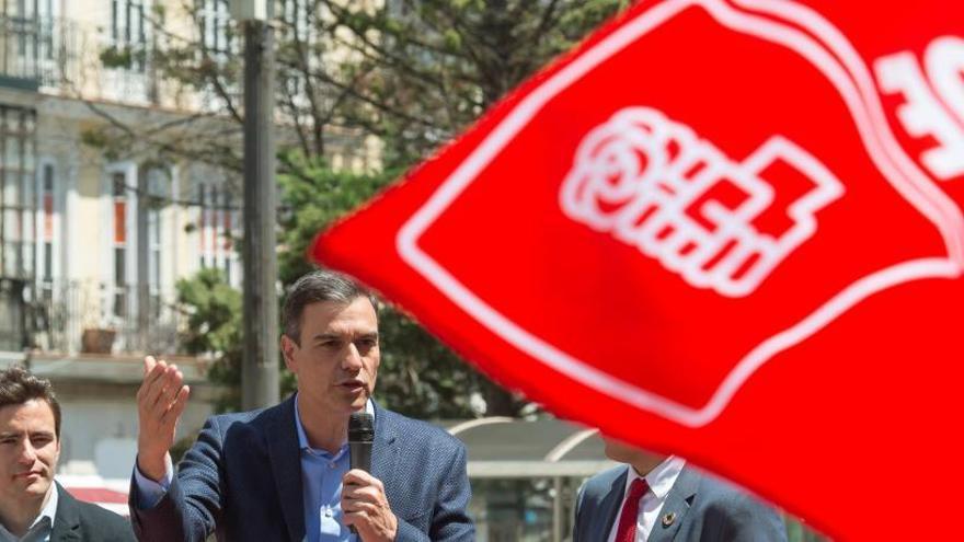 Pedro Sánchez, durante un acto en Santander.