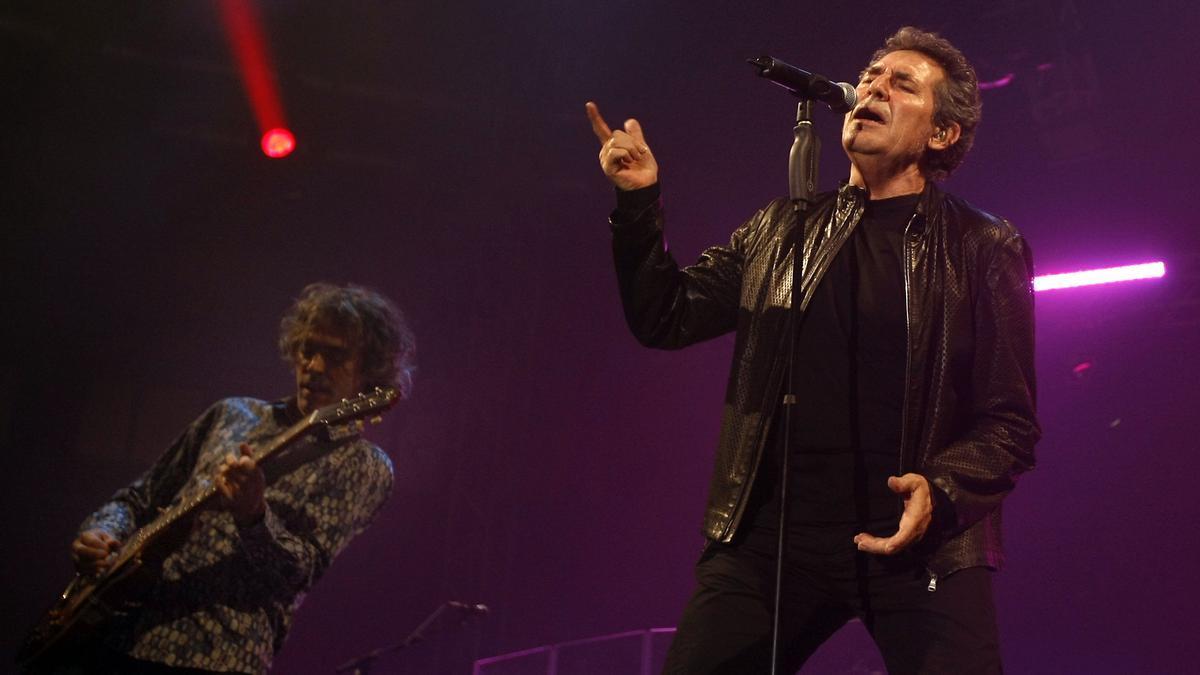Miguel Ríos, durant un concert a la Fonteta, en 2010.