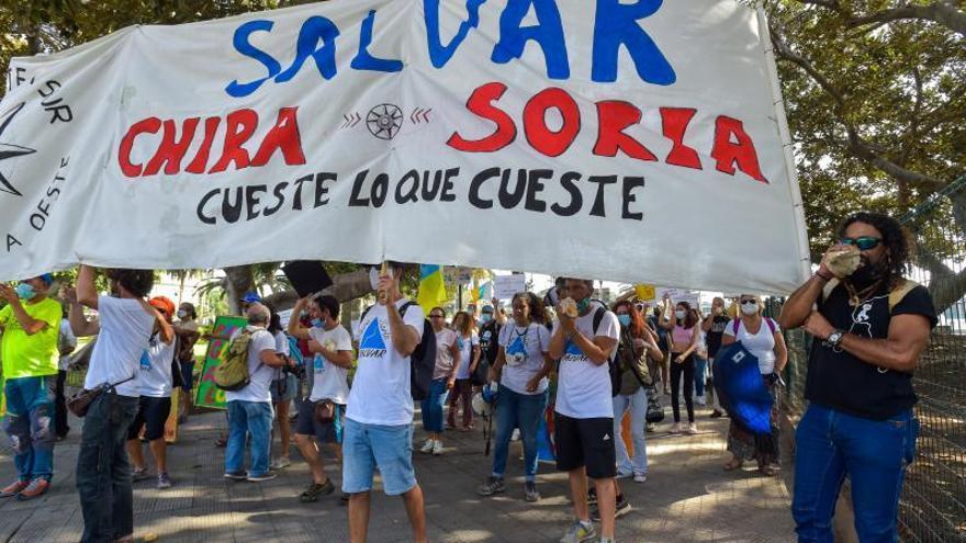 Manifestación contra Chira-Soria