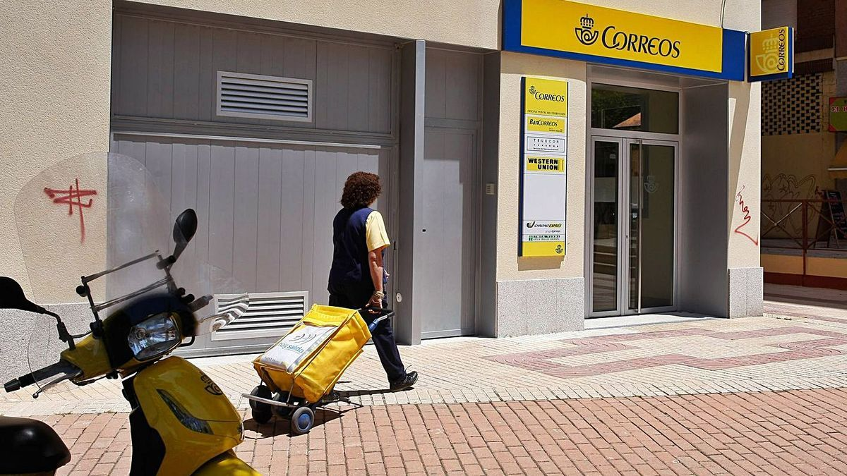 Una oficina de Correos de la provincia de Zamora.