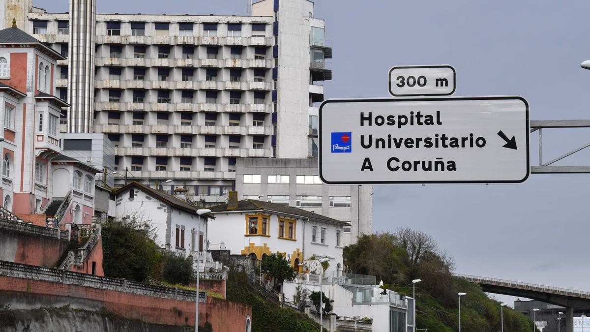 Accesos al Hospital de A Coruña.