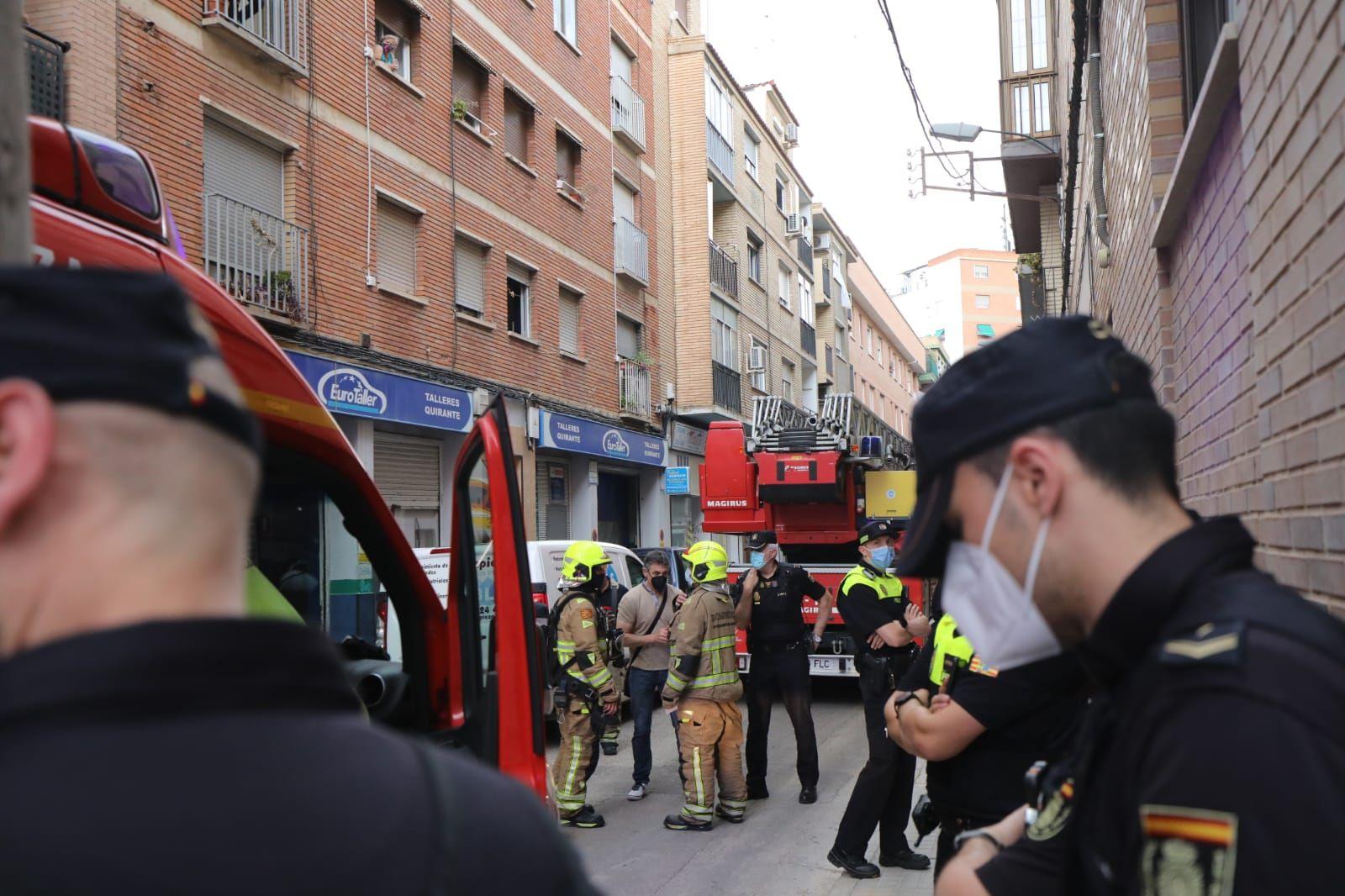 Incendio en la calle Nuestra Señora de Covadonga de Zaragoza