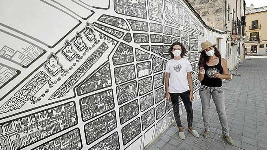 Santa Catalina se vuelve mural