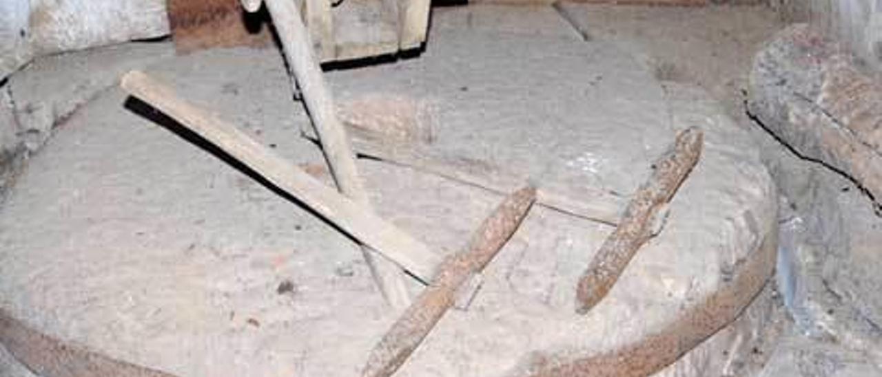 Interior de un antiguo molino.