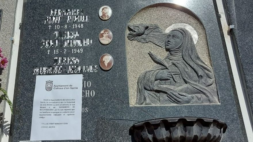 Callosa d'en Sarrià aprovecha el Día de Todos los Santos para reclamar la actualización de la propiedad de los nichos