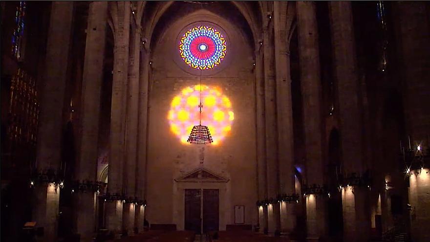 'Festa de la Llum' en la Catedral de Mallorca: 1 hora en 20 segundos