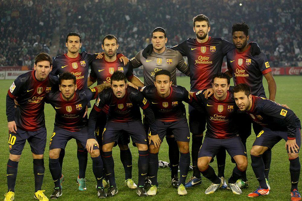 Mesi contra el Córdoba CF en la eliminatoria de la Copa de 2012