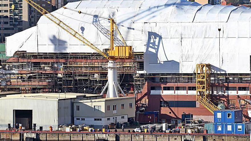 Barreras pide presupuesto para pintar el barco e incluye Ferrol entre las opciones