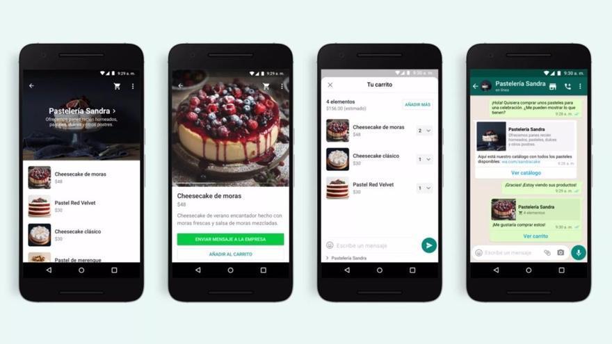 WhatsApp introduce un carrito de la compra